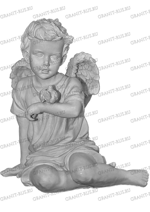 Скульптура из литьевого мрамора на могилу ангел с крыльями купить