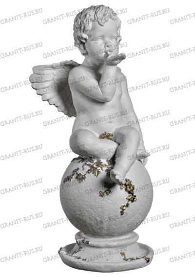 Ангел на шаре с лепесточками СК 012