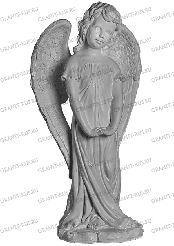 Скульптура из литьевого мрамора на могилу ангел на кладбище