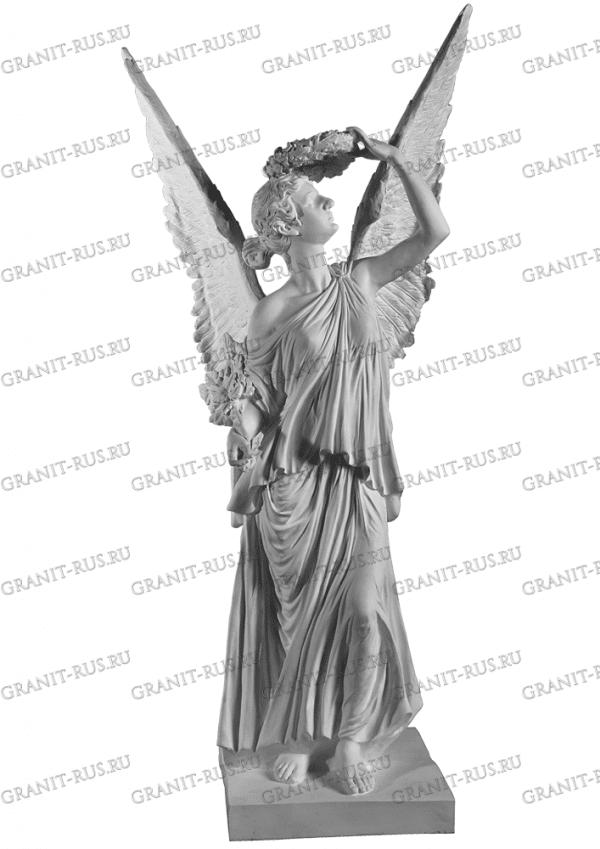 ангел в сад Скульптура из литьевого мрамора на могилу