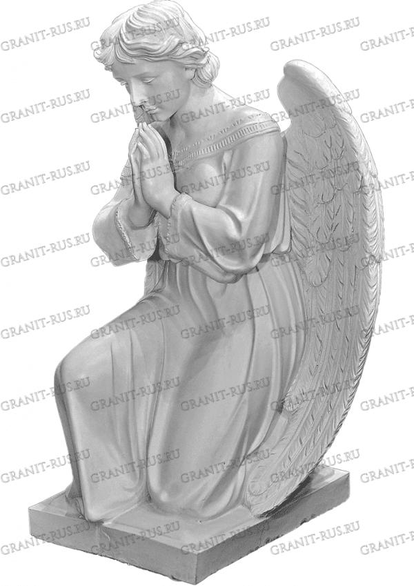 скорбящая на подставке Скульптура из литьевого мрамора на могилу