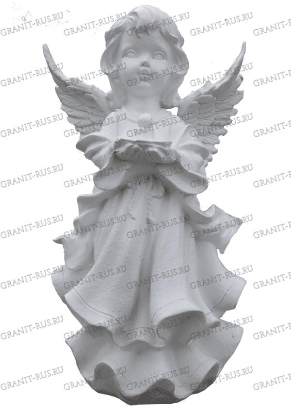ангел со свечкой, фигура на могилу Скульптура из литьевого мрамора