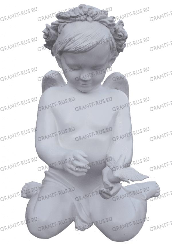 Скульптура из литьевого мрамора на могилу ангел на кладбище, ангел на могилу
