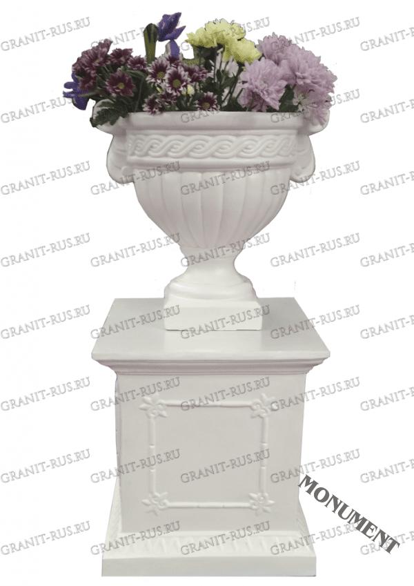 вазон для цветов, вазон на кладбище Скульптура из литьевого мрамора на могилу